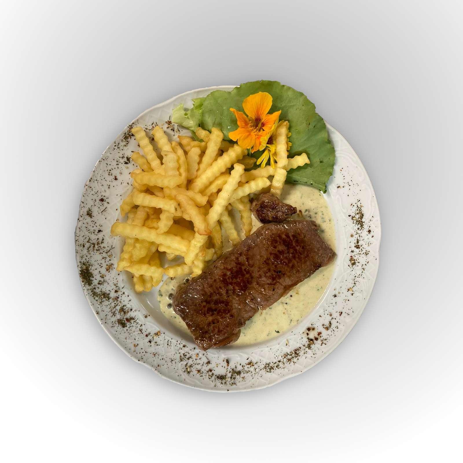 Wallerwirt Steak Bild